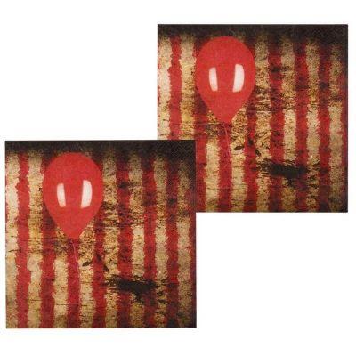 Sachet de 12 Serviettes en Papier - Clown d'Horreur