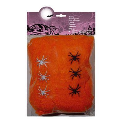 Toiles d'Araignées Oranges Halloween 100g