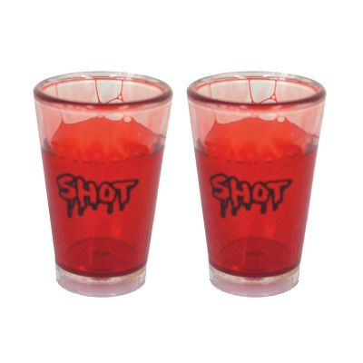 "Lot de 2 Verres avec Sang ""Blood Shot"""
