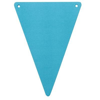 5 Fanions en Carton Unis - Turquoise