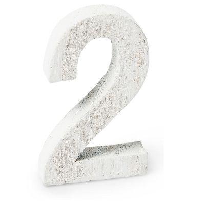 """Chiffre """"2"""" en Bois - 5 cm"""