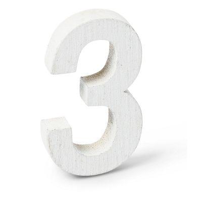 """Chiffre """"3"""" en Bois - 5 cm"""