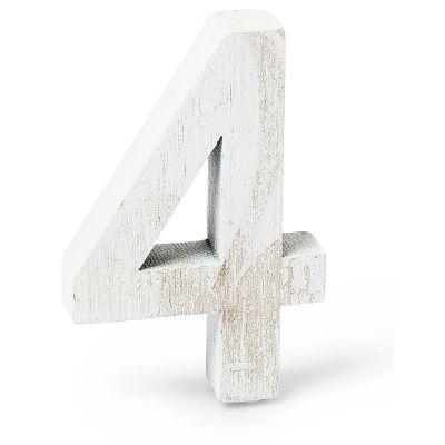 """Chiffre """"4"""" en Bois - 5 cm"""