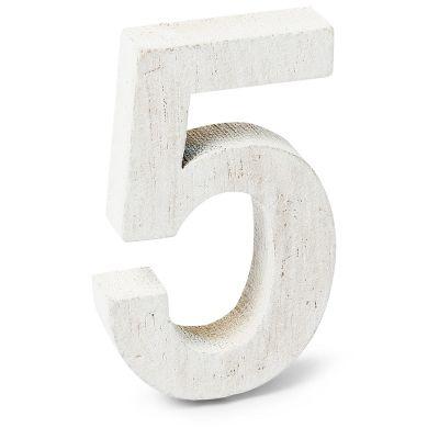 """Chiffre """"5"""" en Bois - 5 cm"""