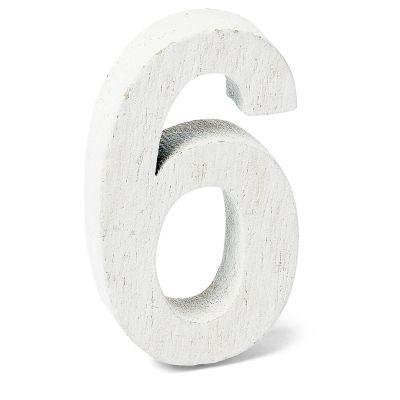 """Chiffre """"6"""" en Bois - 5 cm"""