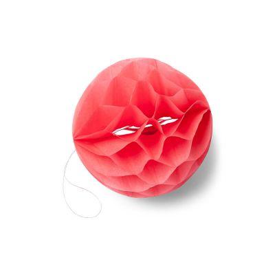 8 boules alvéolées - Corail