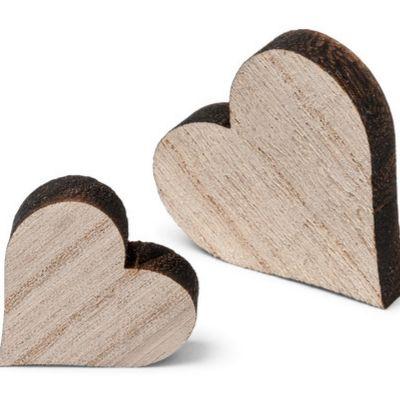 Sachet de 12 Cœurs en Bois