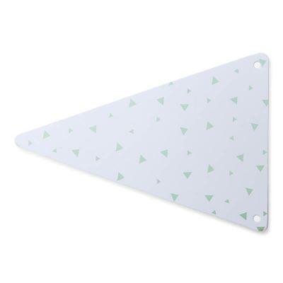 5 Fanions en carton à triangles vert menthe