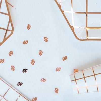 """Sachet de confettis de table Anniversaire """"40 ans"""" - Rose Gold"""