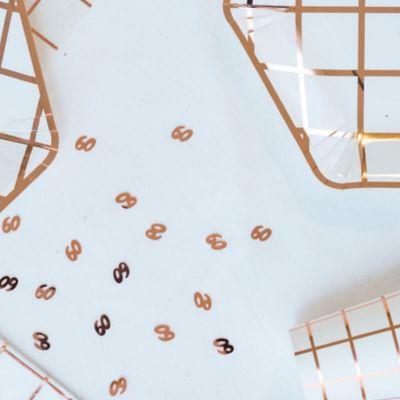 """Sachet de confettis de table d'anniversaire """"60 ans"""" - Rose gold"""