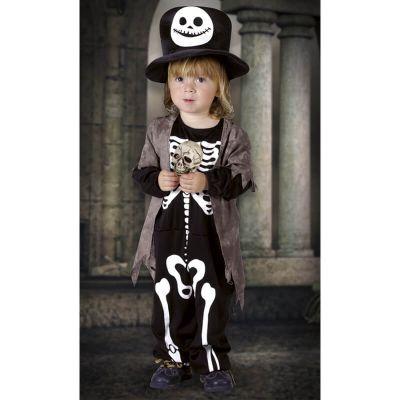 Déguisement Petit Squelette avec Gilet - Taille 3-4 ans