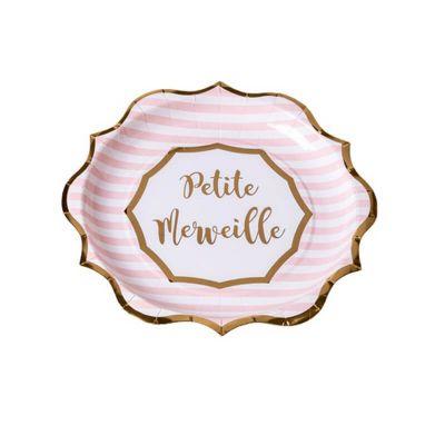 assiettes-petite-merveille-bapteme-baby-shower | jourdefete.com