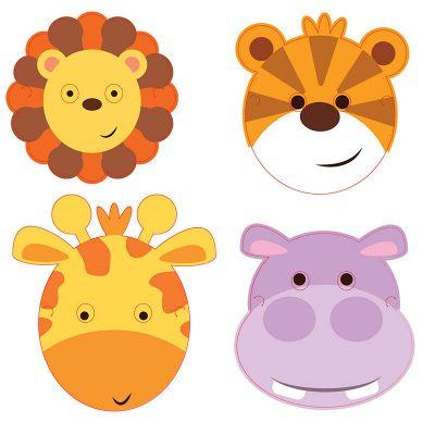 masques-carton-animaux-jingle jourdefete.com