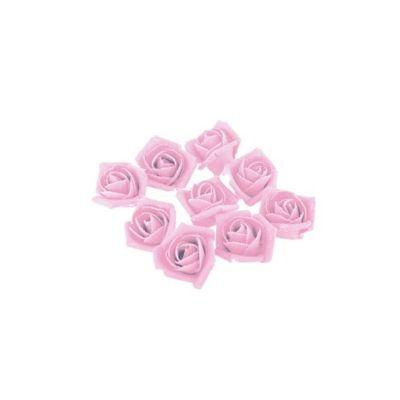 9 Roses Roses en Lin sur Tige