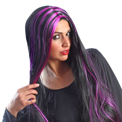 Perruque Colorée Dark Bella Femme Noir Violet