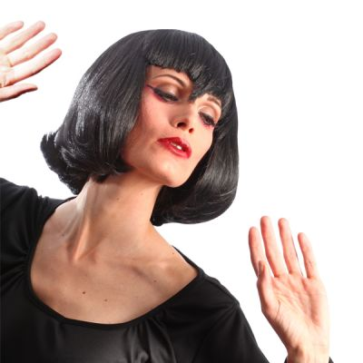 Perruque Colorée Vampirella Femme Noire