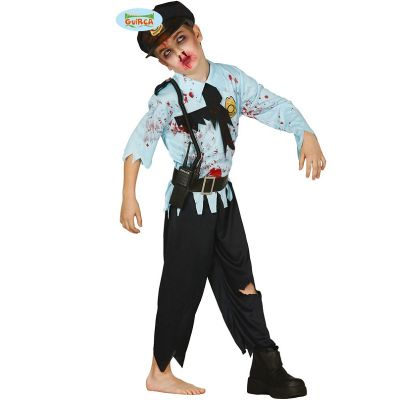 Policier Zombie Enfant - Taille au Choix