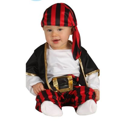 Déguisement Bébé Pirate rayé - Taille au choix