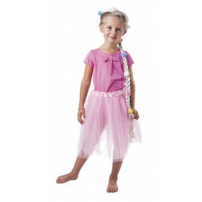 Couronne de Princesse avec Tresse Blonde Fleurie Enfant