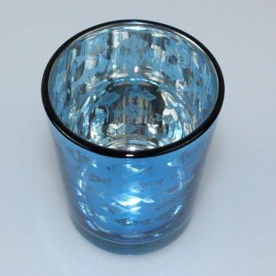 Photophore avec Poissons - Bleu