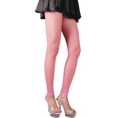 Legging Résille - Rose Fluo