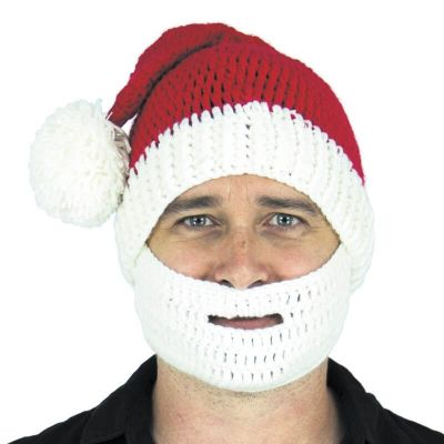 Bonnet et Barbe de Noël en Crochet