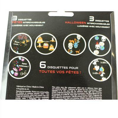 Sachet de 6 Disquettes interchangeables pour Projecteur Extérieur (Halloween, Pâques, Nouvel an, Anniversaire)