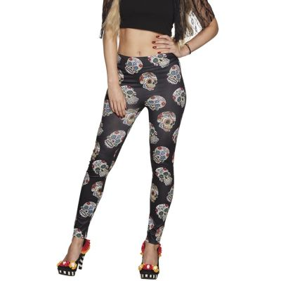 Leggings Adulte - Day of the Dead - Taille Unique