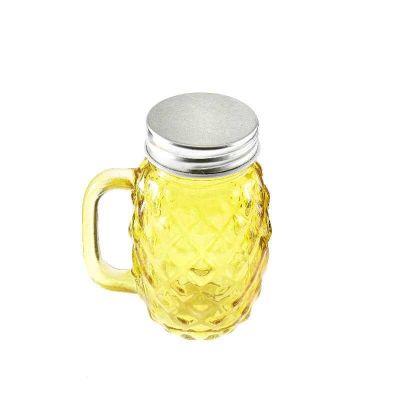 Jar en Verre Ananas Jaune