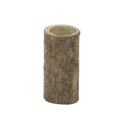 Bougeoir en Bois Naturel - 14 cm
