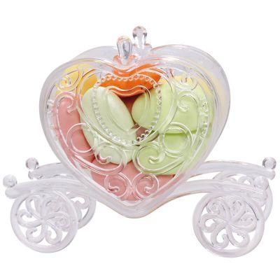 Carrosse en Forme de Cœur pour Dragées - Plexi Transparent