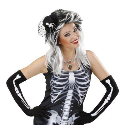 Chapeau Pince Gothique et Squelette
