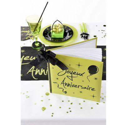 "Livre d'Or ""Joyeux Anniversaire"" - Vert"
