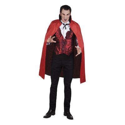 Cape de Vampire Réversible Rouge et Noire Adulte - 120 cm