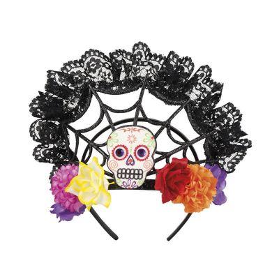 """Couronne Fleurs et Dentelle """"Day of the Dead"""""""