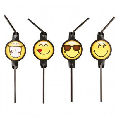 8 Pailles Emoji