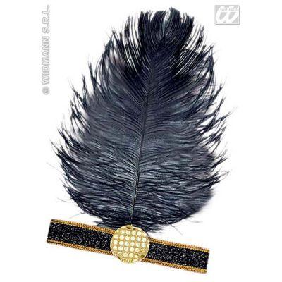 Accessoire bandeau Charleston Noir