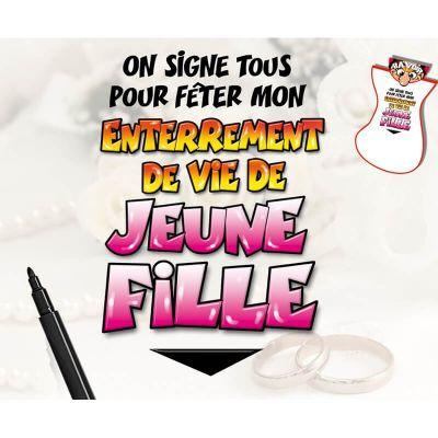 """Bavoir pour Adulte """"Enterrement de Vie de Jeune fille"""" On Signe Tous"""