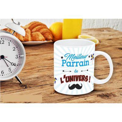 """Mug """"Meilleur parrain de l'univers"""""""