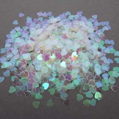 Confettis de Table Coeur Métallisé Translucide