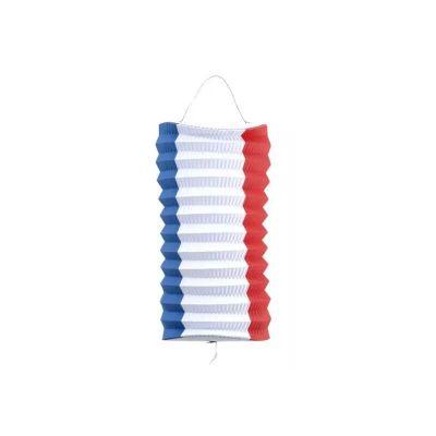 lampion cylindrique tricolore france 13 cm   jourdefete.com