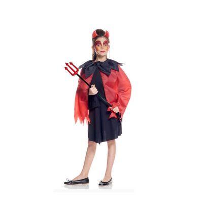 set diable enfant avec cornes cape et trident halloween   jourdefete.com
