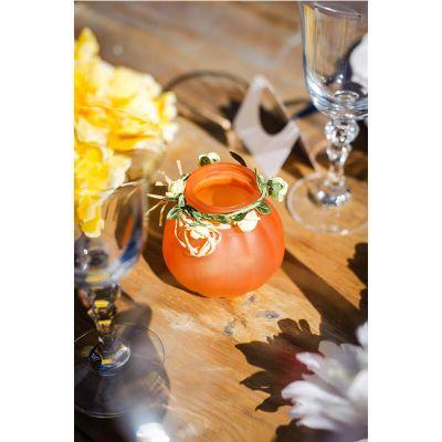 Petit vase bucolique - Pêche