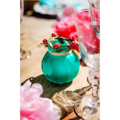 Petit vase bucolique - Emeraude