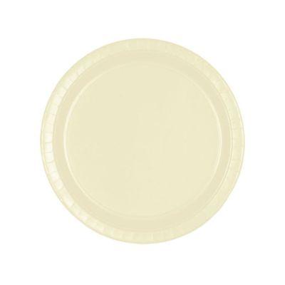 8 Assiettes en Carton Ivoires - 23 cm