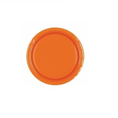 8 Assiettes en Carton Oranges - 23 cm