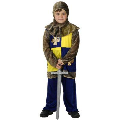 déguisement chevalier médiéval garçon jaune et bleu