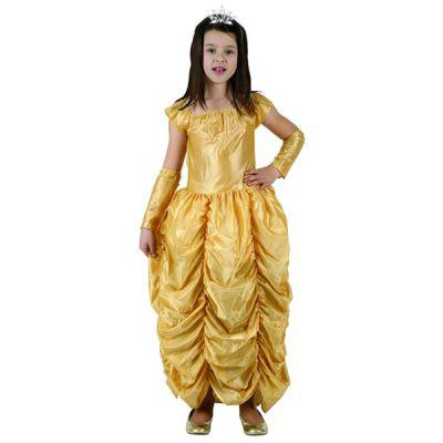 Costume Princesse Robe Dorée Fille