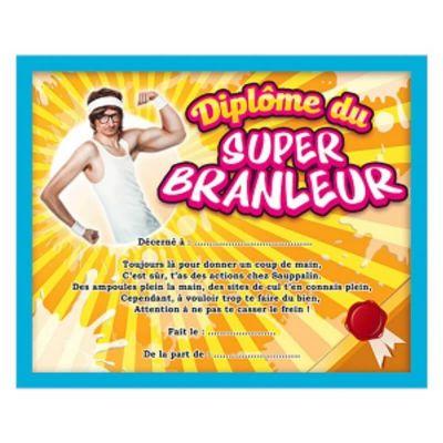 Cadre Diplôme Humoristique du Super Branleur
