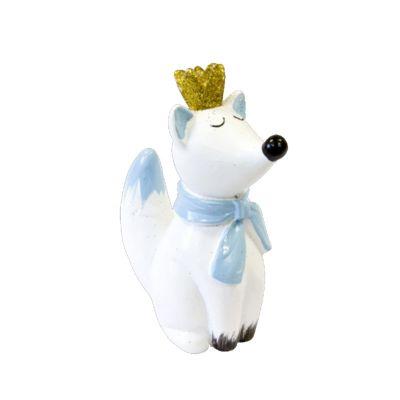 Figurine en Résine - Baby Shower - Renard Bleu | jourdefete.com